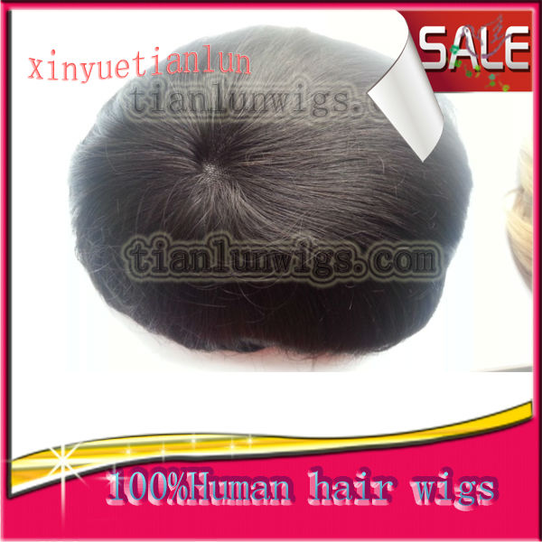 Top Quality 100% Brazilian Human Hair 6 Inches Men's Wig Toupee For Black Men