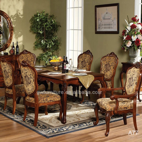 Elegant Wooden Dining Room Furniture Sets Made In China A77