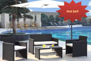 Luxury All Weather aluminum rustproof frame pool rattan sofa set