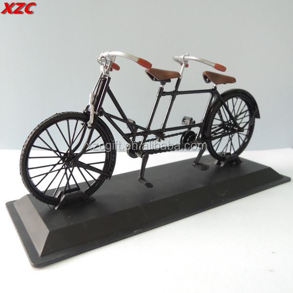 Metal miniature tandem model bike decor bicycle souvenir for Model home decorations for sale