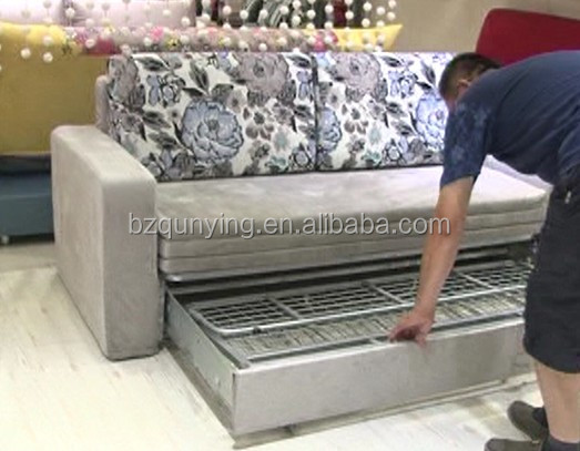 Enlarged Folding Futon Bed Frame With Removable Cover