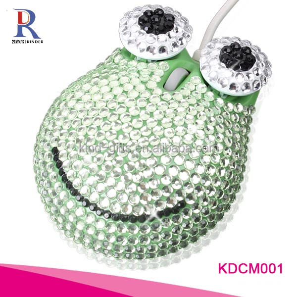 Novelty Crystal Round Computer Mouse