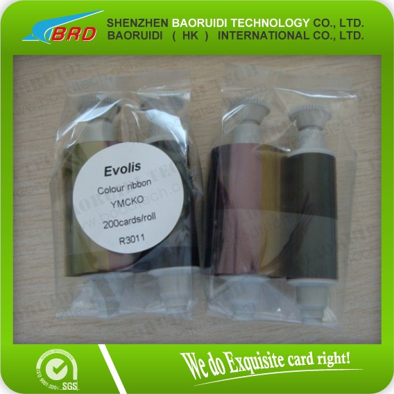 200 images compatible Evolis R3011 ymcko id card color ribbon