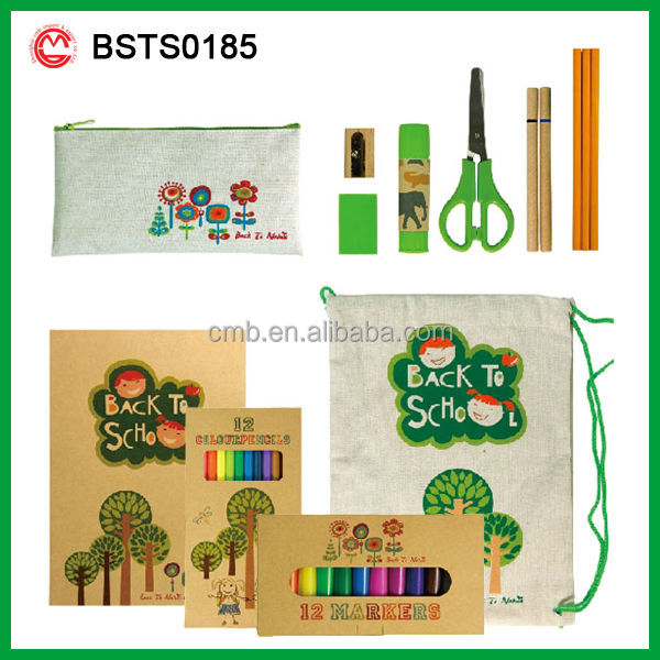 ECO FRIENDLY SCHOOL CHILDREN STATIONERY SET