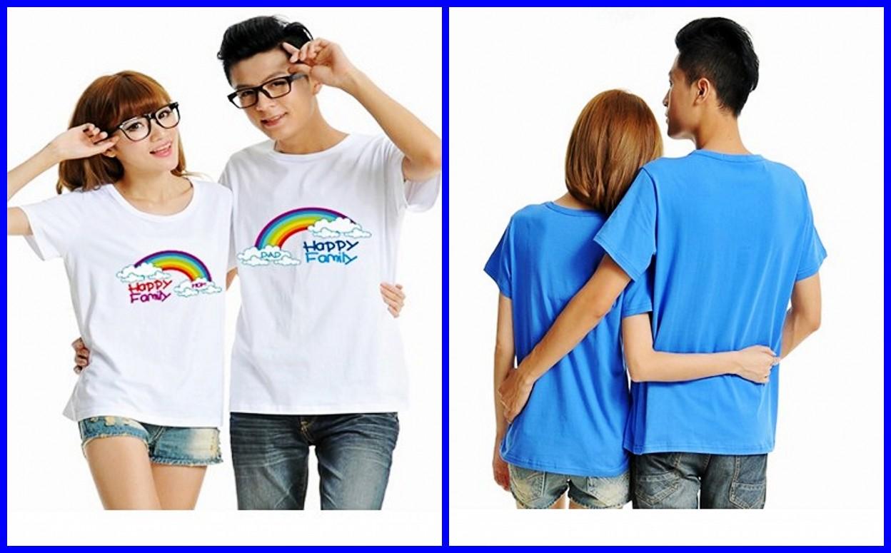 Design t shirt couple - High Quality Fashion Cute Family Couple T Shirts Design China