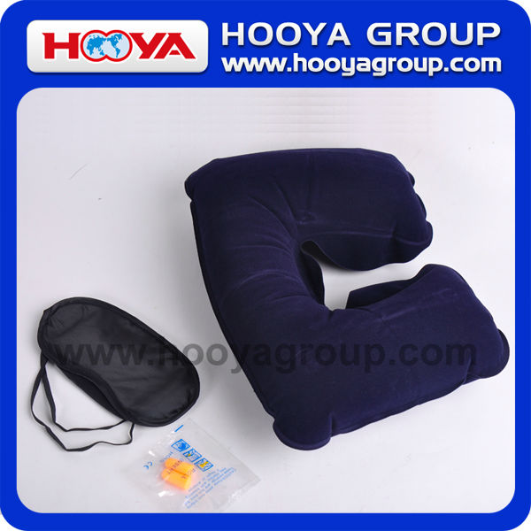 Iflatable tourism three-piece neck pillow