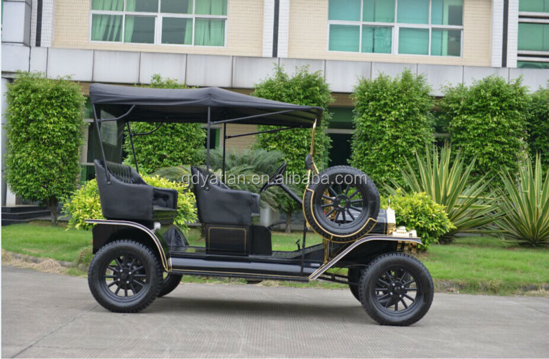 Antique 48V 4 seater airport passenger golf cart electric tourist vehicle