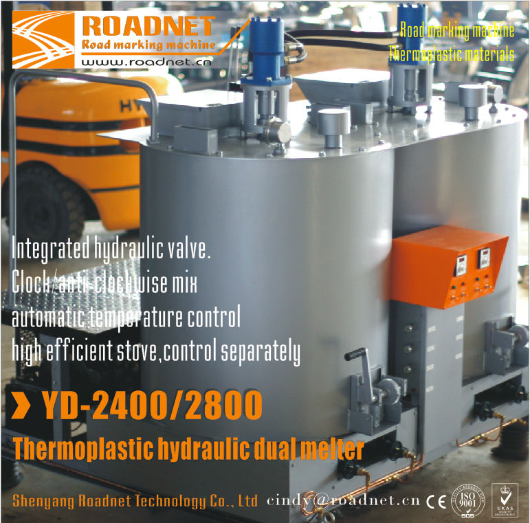 Double cylinder hydraulic thermoplastic preheater