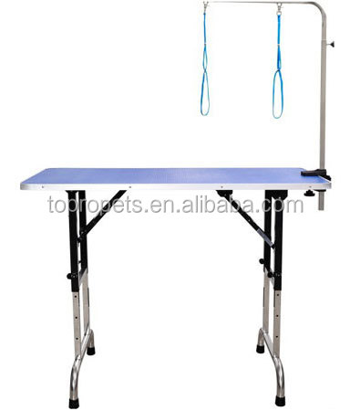 height adjustable folding pet grooming table