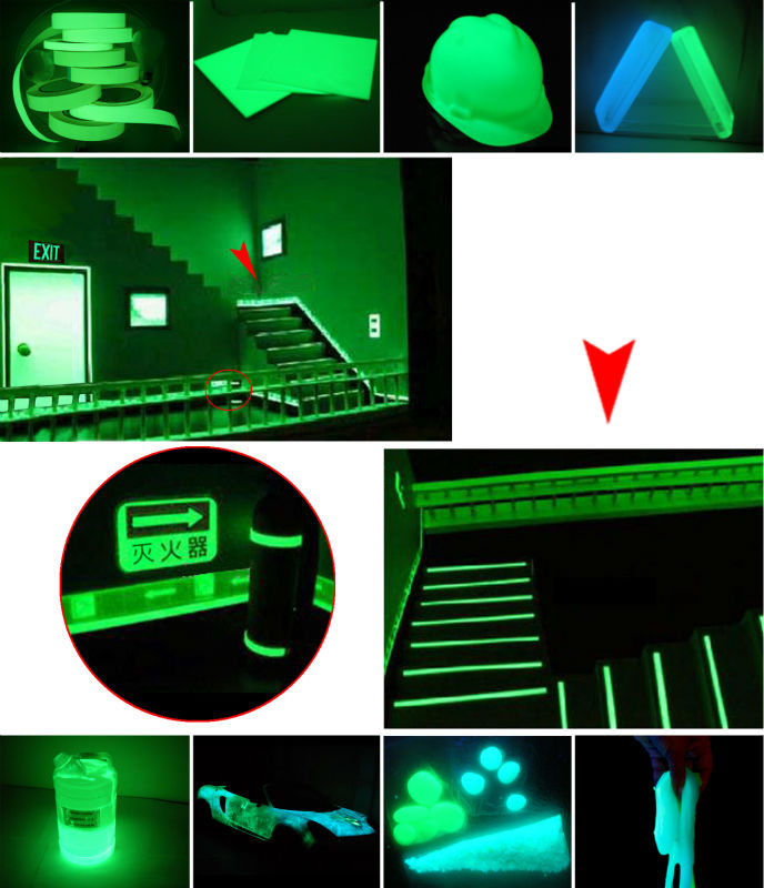 fluorescent phosphor powder for glow in the dark vinyl