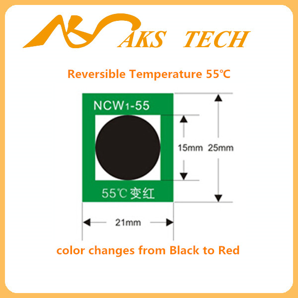 temperature indicator label adhesive sticker
