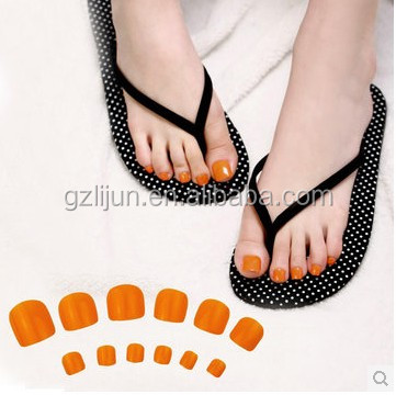 G5-005 70pcs Colourful toe nails .ABS Colourful false toe nails