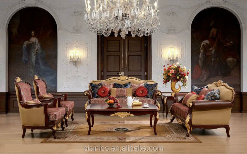 Antique Spanish style sofa sets classic european sofa Luxury living room furniture