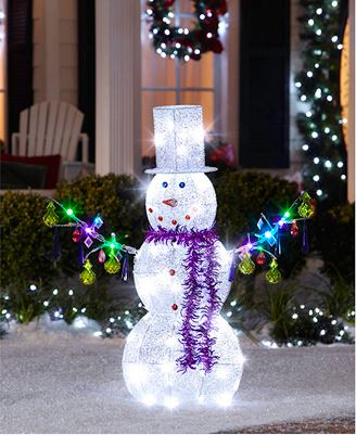 outdoor christmas decoration metal snowman ornament buy. Black Bedroom Furniture Sets. Home Design Ideas