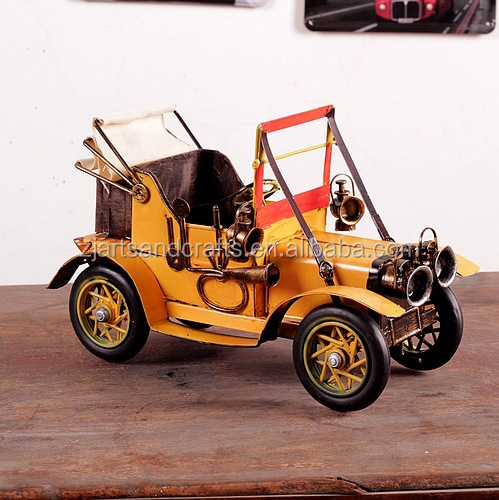 Handmade metal arts and craft model car for home decoration