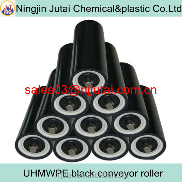 Wear resistant black PE conveyor roller