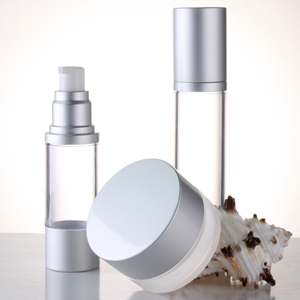 15ml 30ml 50ml 80ml 100ml aluminum cosmetic airless bottle