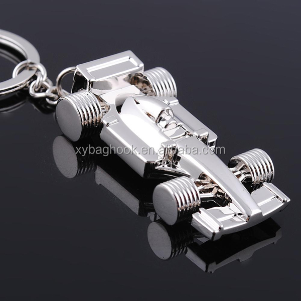 Racing car logo keychain with 3D design