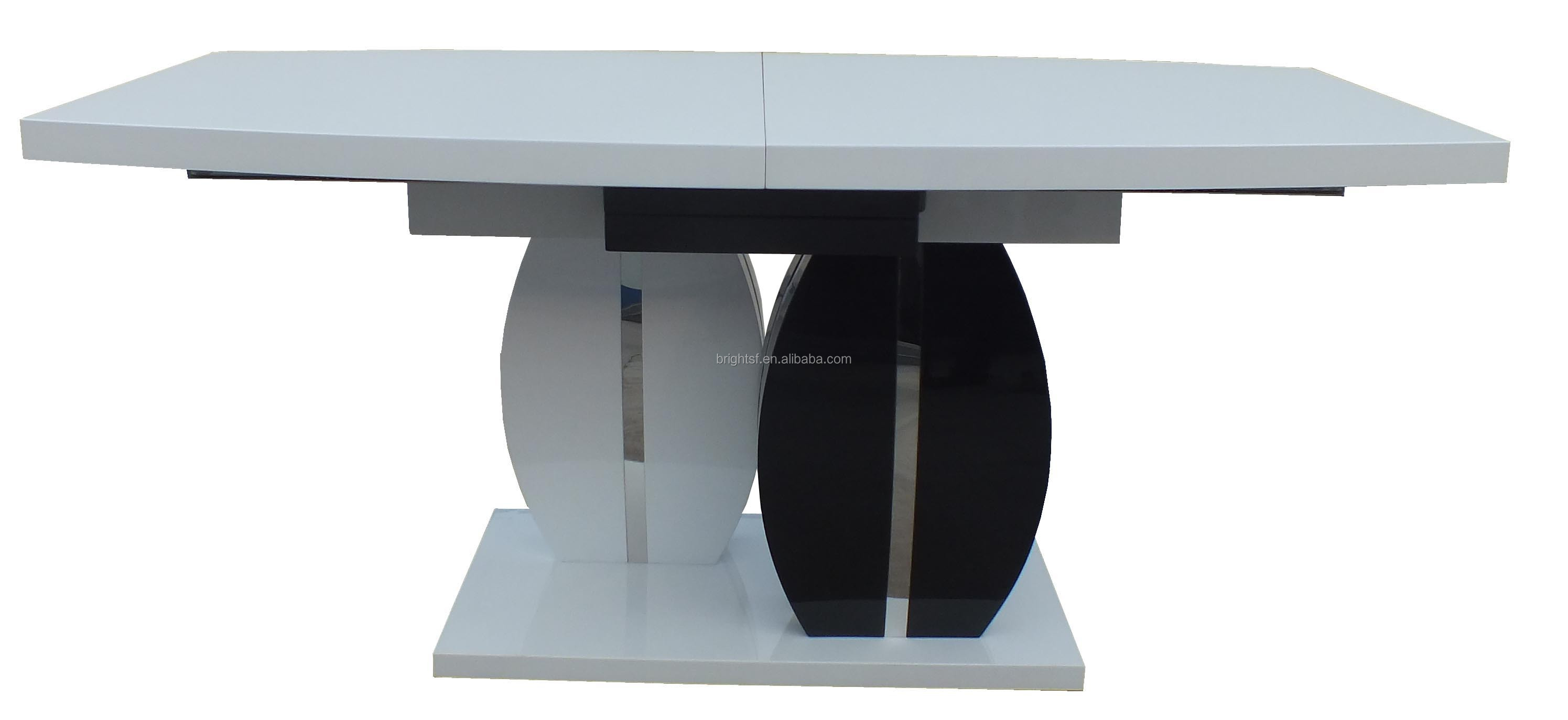 2015 new design modern folding mdf high gloss white and for Modern high dining table