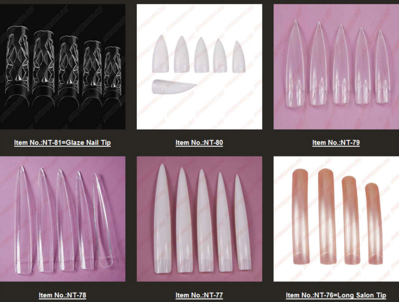 New Arrivals salon DIY natural acrylic nail tips, full cover false ...