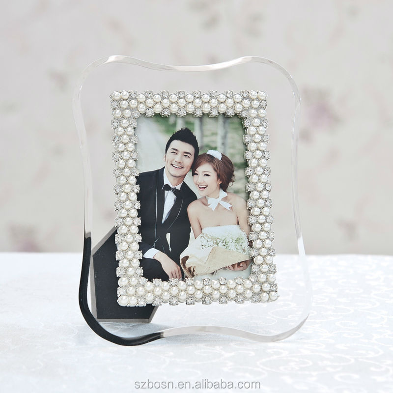 Lucite Photo Frame With Pears