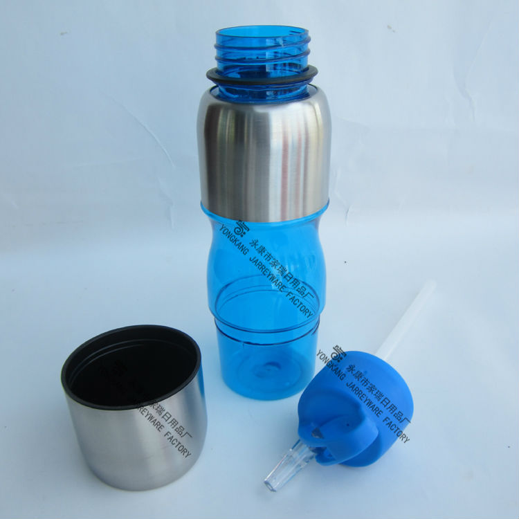800ML New Design Plastic Sports Drink Bottle Plastic Bottle With Straw Lid