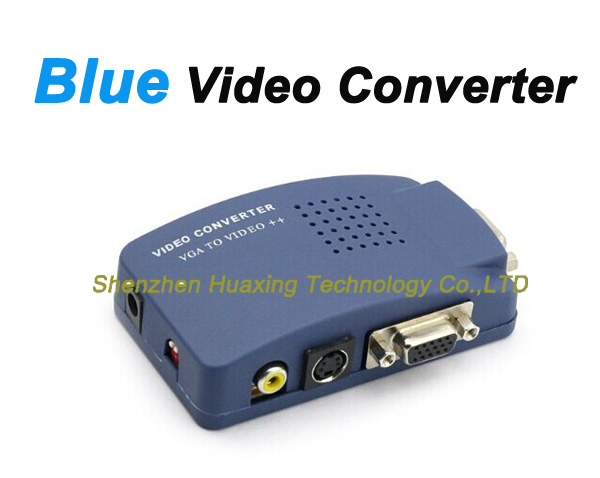 Composite Convertor AV-VGA / BNC-VGA/TV-to-PC/ VGA -TV/ S-video to VGA video Converter Konverter Box