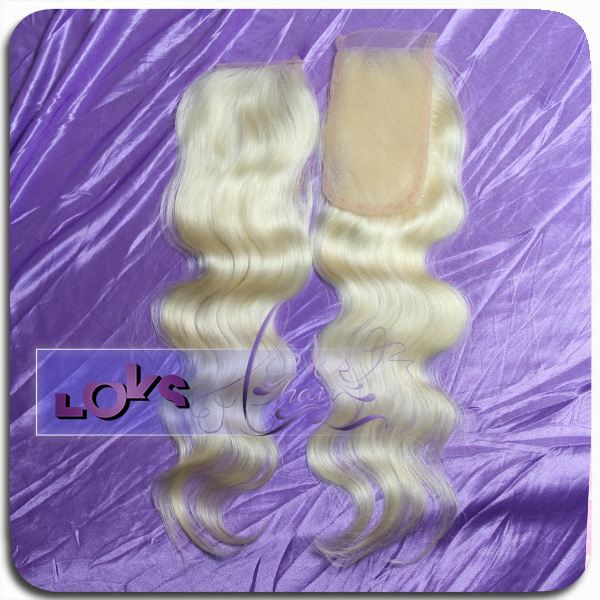 "lace closure blond color #613 3""x5"" lace closure wholesale"