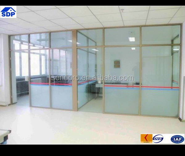 Frosted glass design office glass wall partitions view for Office partition design ideas