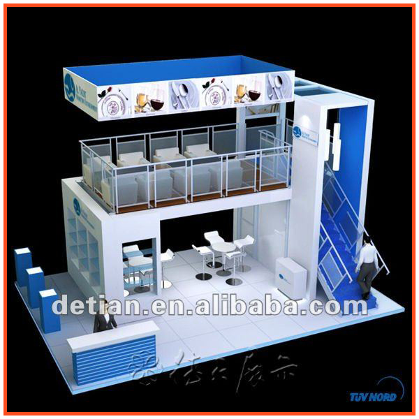 Detian double deck booth,two story stand,two stand booth constructions in Shanghai