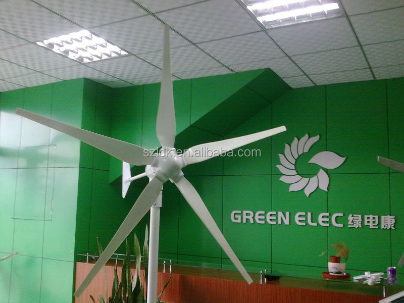 3 phase wind turbine generator 600W with CE