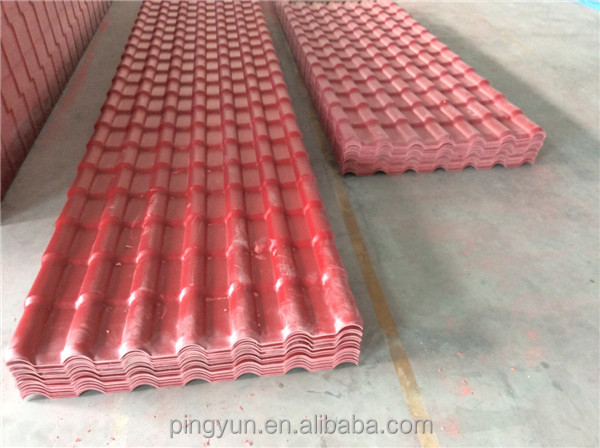 ASA coated synthetic bamboo roofing sheets roofing tiles