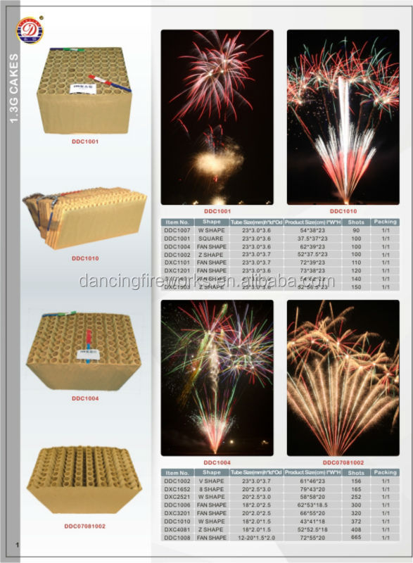 100 Shots Fan Shape Firework Display Cake from China Manufacturing Factory for Sale