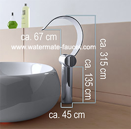 double handle bathroom waterfall faucet wasserfall wasserhahn