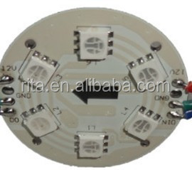 56mm diameter WS2811 led pixel module,injection type,1.44W,6pcs leds inside,DC12V input;IP68;milky cover