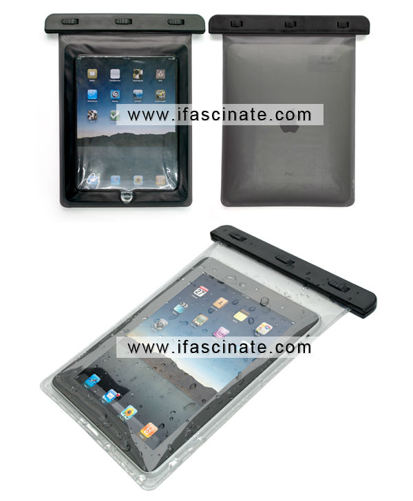 Smart waterproof bag for ipad 2 case with headphone