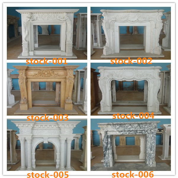 Caved Marble Articial Marble Fireplace Surround