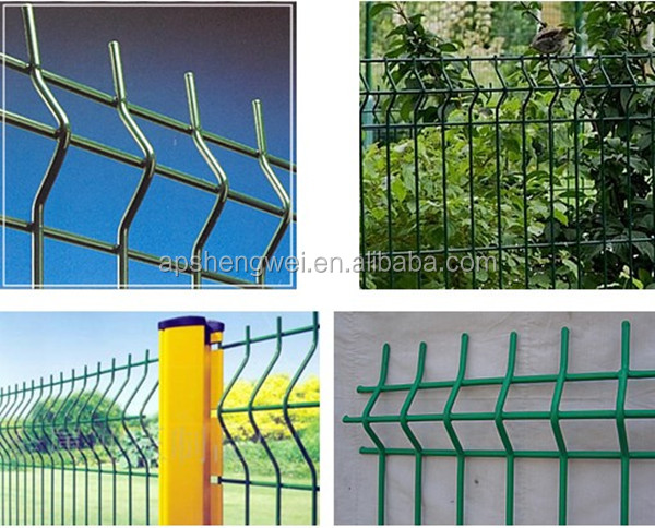 Pvc Coated Curve Border Garden Wire Mesh Fence