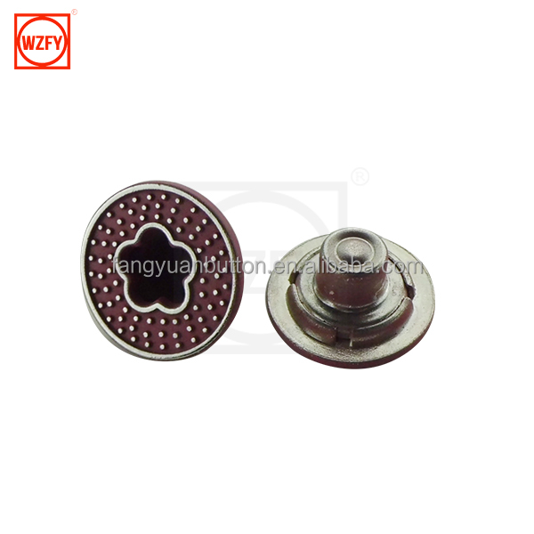 Popular Classical Hollow Jeans Button For Jeans / leather