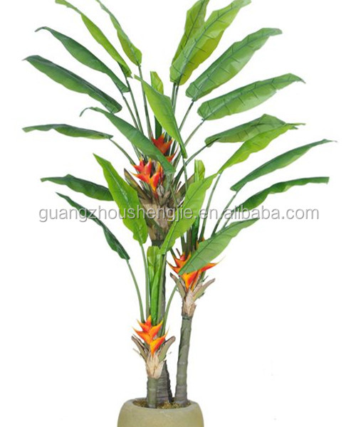 Artificial plants and trees artificial fake banana tree for Artificial banana leaves decoration