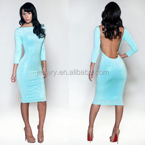 Wholesale Latest lady adult hot sex club dress light blue open ...