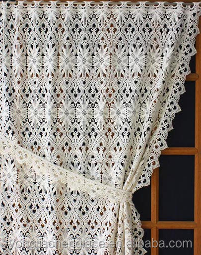Factory White Rectangular Lace Crochet Doilies Tablecloth