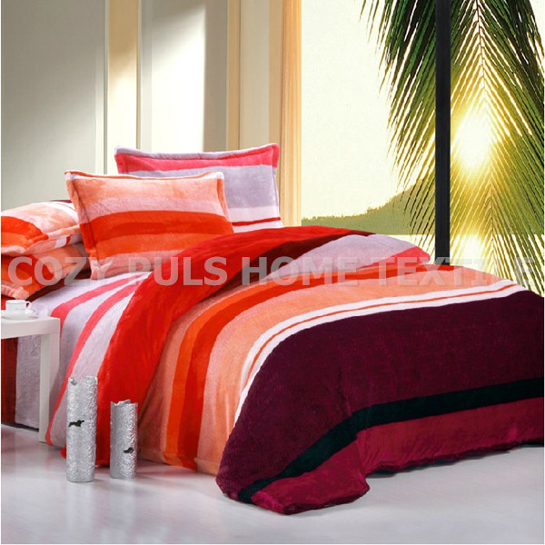 Flannel bedding article Farley velvet bedding set Four set series of flano duvet cover pillowcase bed sheet bedspread flat sheet