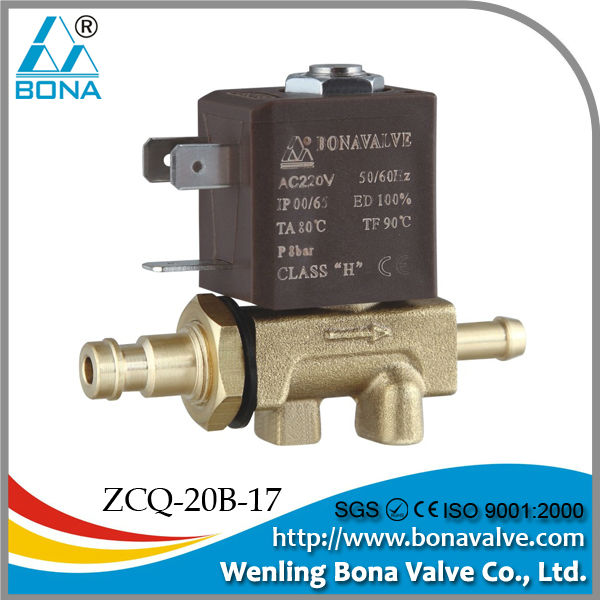8*6.5mm Tube Brass Co2 high frequency Welding Machine 24V 220V Air Solenoid Valve