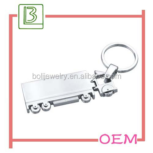 Metal plate with PU Combine promotion key holder with logo laser
