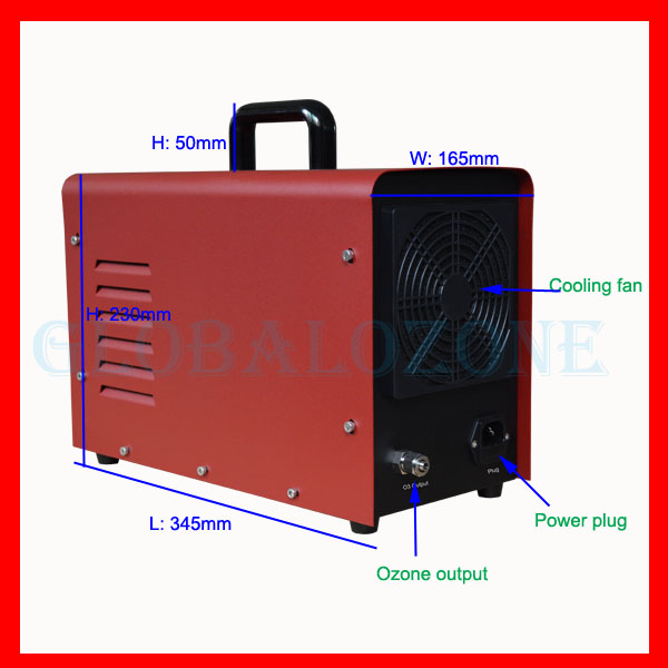 Home kitchen ozone generator water disinfection device