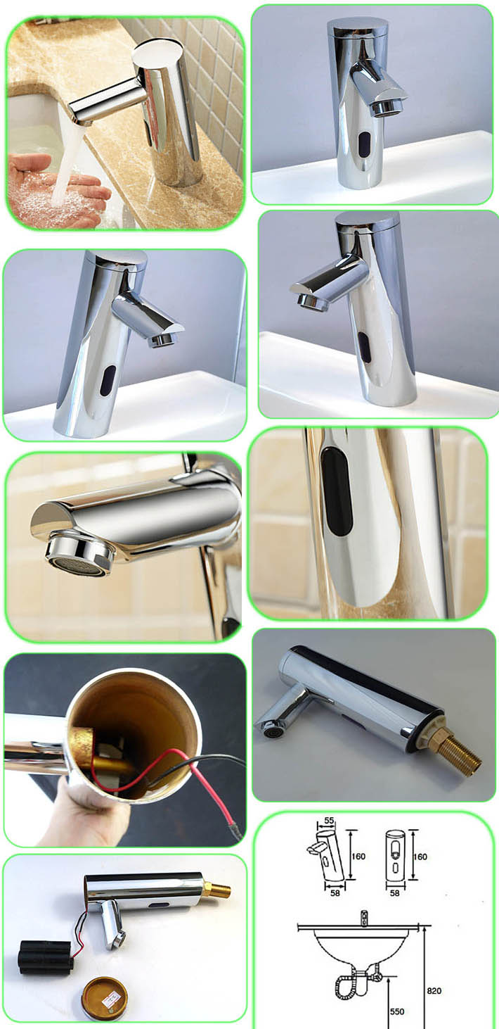 touchless faucet water tap bathroom mixer without handle