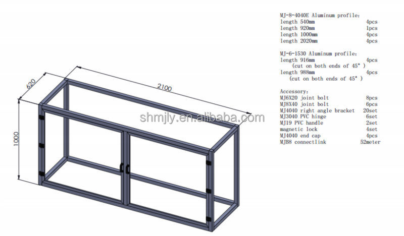 Chinese supplier reasonable price industrial aluminium profile for frame