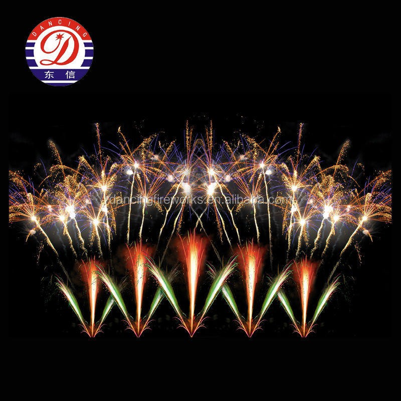 100 Shots Fan Shape Cake Banger Fireworks for Pyrotechnics