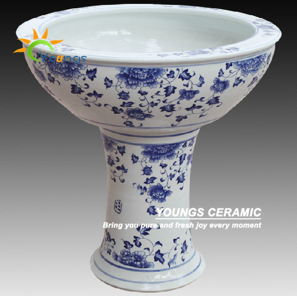 Various Chinese Hand Painted Ceramic High Heel Flower Pot Planter